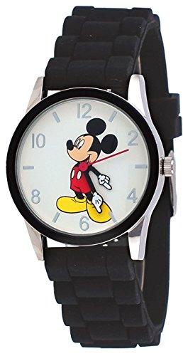 White Dial Black Silicone - Disney MCK862 His Mickey Mouse Black Silicone Band White Dial Analog Watch