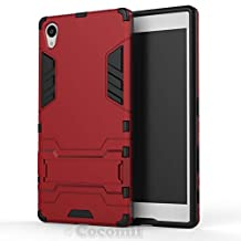 Sony Xperia Z5 Premium Case, Cocomii Iron Man Armor NEW [Heavy Duty] Premium Tactical Grip Kickstand Shockproof Hard Bumper Shell [Military Defender] Full Body Dual Layer Rugged Cover (Red)