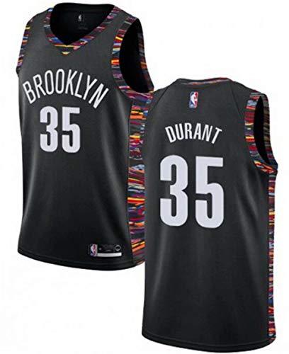 VF LSG Mens Brooklyn Nets #35 Kevin Durant Jersey Black City Edition L