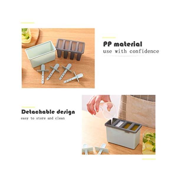 Rolin Roly Set di 2 Stampi per Gelato Durevole Stampi per ghiaccioli Riutilizzabile Gelati Crema Stampo Design a Doppio… 3 spesavip