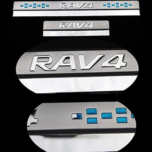 QWERD Car Styling for Toyota RAV4 2013 2014 2015-2020 Edelstahl Einstiegsleisten Pedal Scuff Schwelle Platten-Abdeckung Borte 4Pcs