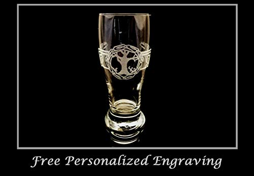 Celtic Tree of Life Pint Glass, Free Personalization