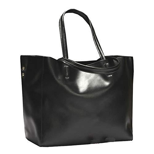 Multifonctions Femmes Black Mode Sac Capacité Loisirs Sacs Pochettes Rivet Carrées Fourre Main élégantes Sacs tout à Haute HHqwEBP
