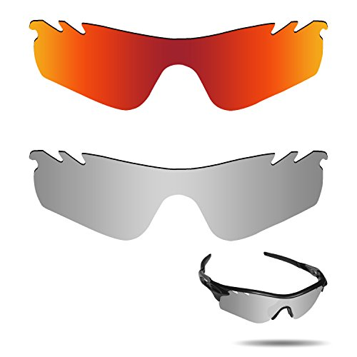 Fiskr Anti-saltwater Polarized Replacement Lenses for Oakley RadarLock Path Vented Sunglasses 2 Pairs - Radarlock Polarized Path