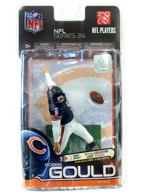 McFarlane Toys NFL Sports Picks Series 24 Action Figure Robbie Gould (Chicago Bears) Dark Blue Jersey Bronze Collector Level Chase by McFarlane Toys