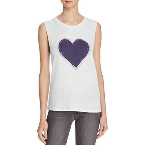 Reviews/Comments Nation Jen Menchaca Womens Camden Heart Graphic Tank Top White