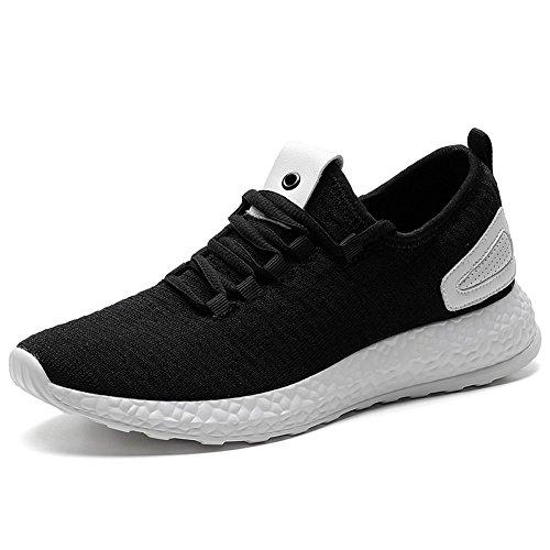 TIOSEBON Men Sneakers Running Shoes 6518 Black
