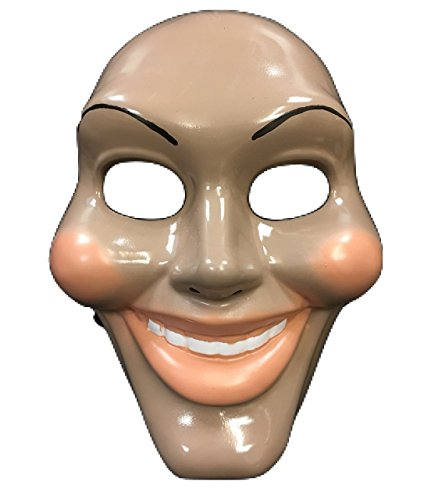 The Purge Original Face Movie Mask - Halloween Fancy Dress Up Costume - Universal Size - Hard Plastic -