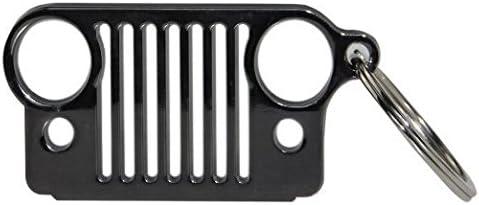 [해외]PerfecTech Stainless Steel Jeep Grill Key Chain Keychain Keyring CJ JK TJ YJ XJ (Black) / PerfecTech Stainless Steel Jeep Grill Key Chain Keychain Keyring CJ JK TJ YJ XJ (Black)
