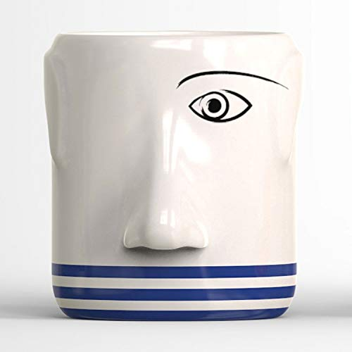 MP Barcelona Artist Series Coffee Mugs - Pablo Picasso with Cubist Face ()