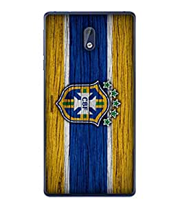 ColorKing Football Brazil 15 Multicolor shell case cover for Nokia 3