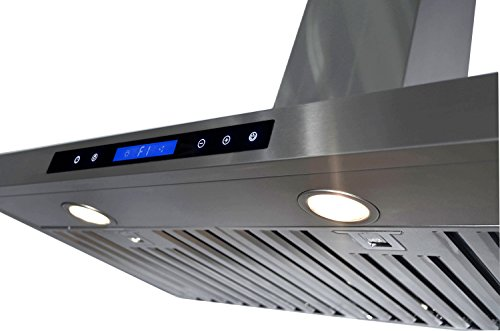 "GOLDEN VANTAGE 36"" Wall Mount Stainless Steel Range Hood With Remote GVW36-B02"