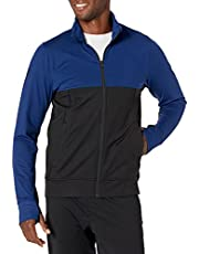 Peak Velocity Mens Cooldown Ultra-Soft Athletic-Fit Jacket