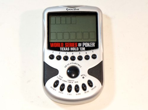 Excalibur Electronic Handheld Game - World Series of Poker Electronic Texas Hold em Poker Handheld, by Excalibur