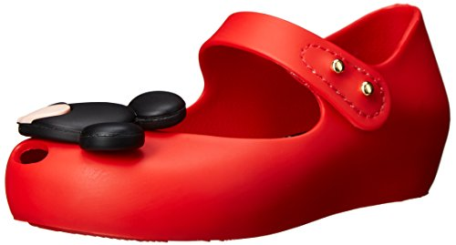 Mini Melissa Ultragirl Disney Twins BB Mary Jane Shoe (Toddler), Red, 8 M US Toddler