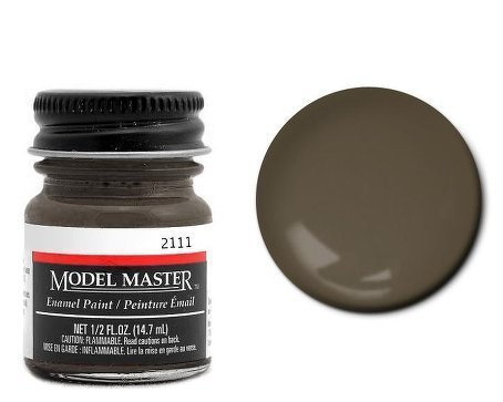 Model Master Italian Dark Brown Enamel Paint .5oz Bottle by Testor - Model Italian Master