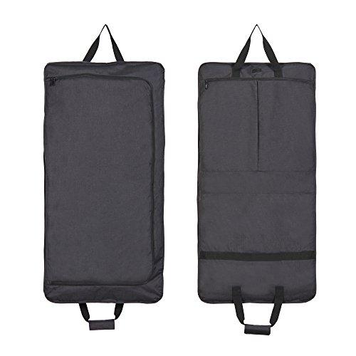 Hynes Eagle 45 inch Portable Garment Bag Hanging Travel Foldable Suit Bag Black by Hynes Eagle (Image #1)