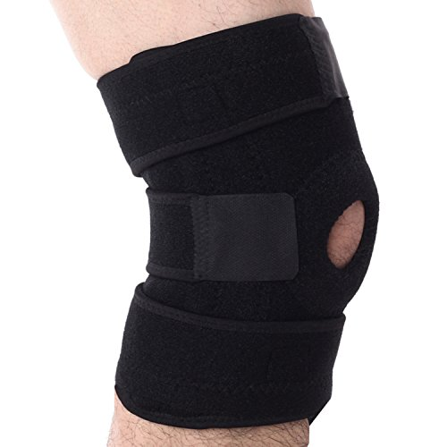 Doc Miller Premium Knee Brace Dual Side Stabilizer Support for ACL LCL MCL Sports Exercise Meniscus Tear Injury Recovery Bone on Bone Arthritis Pain Relief Open Patella Compression Neoprene Mobility