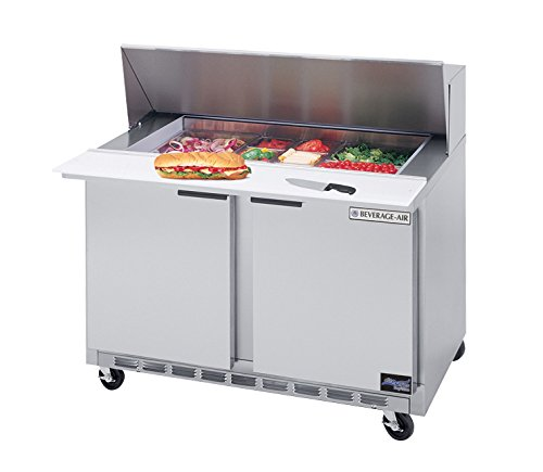 13.9 CuFt Two Section Sandwich Top Refrigerated Counter