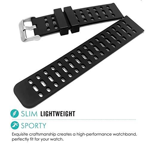 [2019 Upgrade] Fitness Tracker Watch Bands - Waterproof Smart Watch GPS Tracker for Men Women Android iOS Activity Tracker Smart Bracelet - Soft Rubber