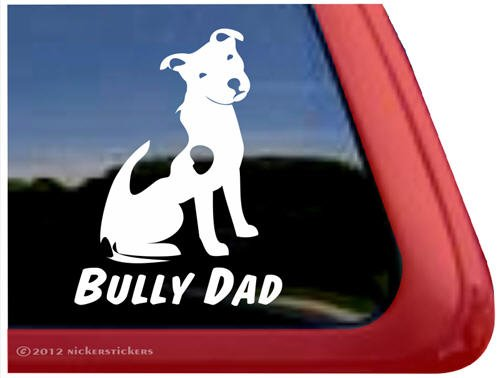 Bully Terrier Vinyl Window Sticker