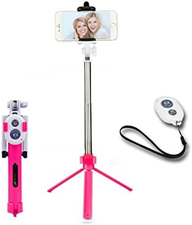 NPLE--Handheld Tripod Monopod Extendable Selfie Stick Bluetooth Remote For Android IOS