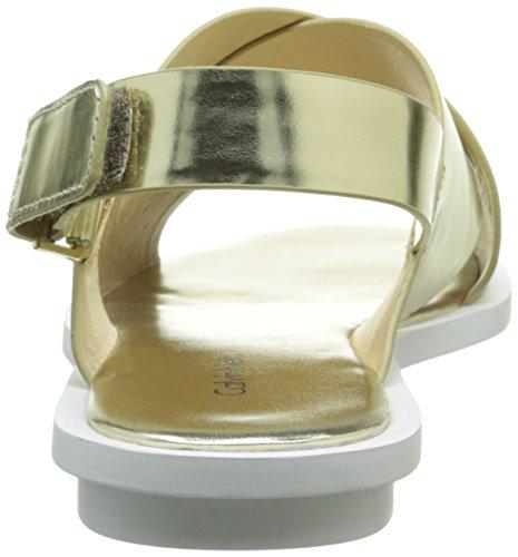 Calvin Klein Tonya - Sandalias de vestir Mujer Beige (Lgd/Metallic Box)