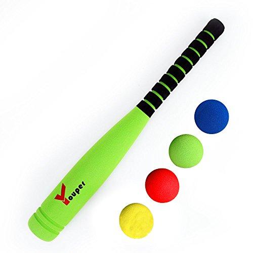 Youper Super Safe Foam T-Ball Set w/ 1 Bat & Ball, Baseball Bat Toys for Kids (21
