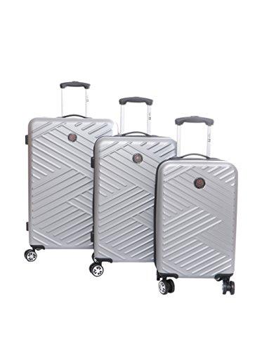 CANADIAN PEAK Set de 3 trolleys rígidos Squadra Plata