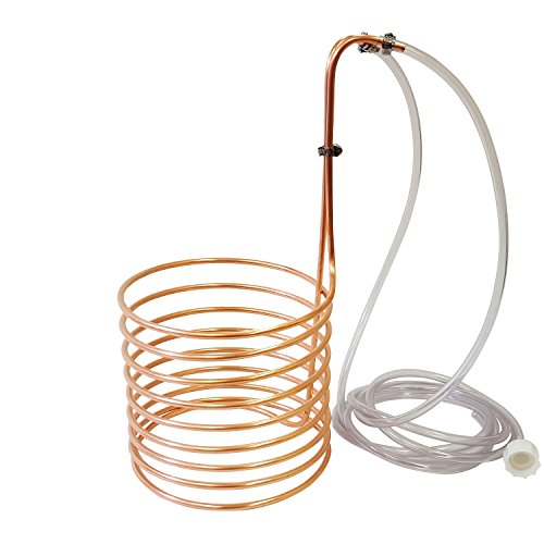 NY Brew Supply Wort Chiller, 1/4' x 20', Copper