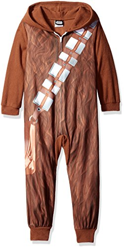 Star Wars Little Boys' Chewbaca Hooded Blanket Sleeper, Brown, 6 ()