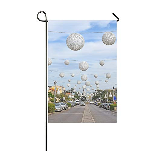 MOVTBA Home Decorative Outdoor Double Sided German City Free Travel Romantic Color Garden Flag,House Yard Flag,Garden Yard Decorations,Seasonal Welcome Outdoor Flag 12 X 18 Inch Spring Summer Gift