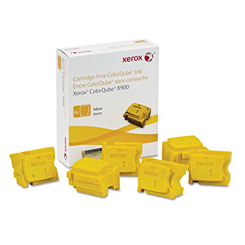 - Genuine Xerox Yellow Solid Ink Sticks for the ColorQube 8900 (6 per box), 108R01016