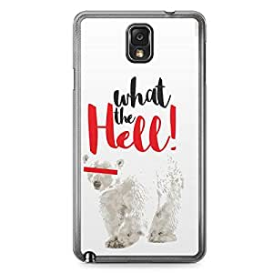 Polar Bear Samsung Note 3 Transparent Edge Case - What the Hell Collection