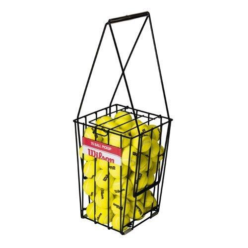 Wilson Ez Pick-up 75 / Z3235 Ball Collection Basket for Training Black BQrWkpos