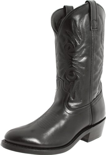 "12 Black Cowboy Boots Laredo - Laredo Men's 12"" Trucker boot,Black,10 XW US"
