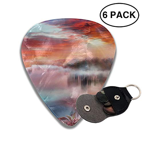 Colby Keats Guitar Picks Plectrums Artistic River Classic Electric Celluloid Acoustic for Bass Mandolin Ukulele 6 Pack 3 Sizes -