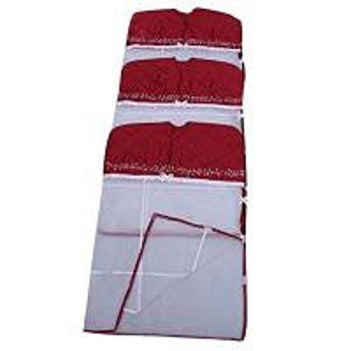 Fashion Bizz Saree Cover Hanging 3 Pcs Combo in Maroon Satin