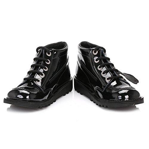Leathers Core Brevet girls Kickers Kick Hi Noir W Bottes Moyenne Chaussures OwFq8p