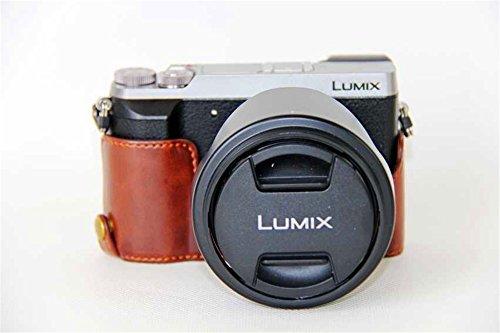 GX85 Case, BolinUS Handmade PU Leather Half Camera Case Bag