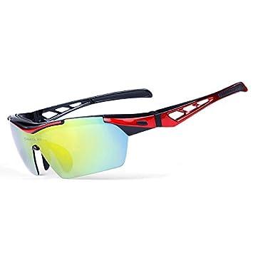 Gafas de Sol polarizadas Anti-Ultravioleta del Ciclismo con 5 Lentes Intercambiables para Las Bicicletas