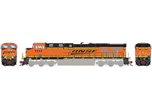 Athearn ATHG83111 HO ES44DC w/DCC & Sound, BNSF/Railway/Black - Ho Athearn Handrail