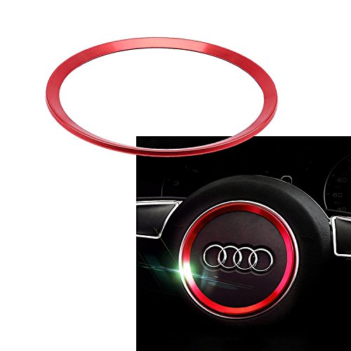 1 Piece Steering Wheel Center Decoration Red Cover Trim For Audi A3 A6 Q3 Q5 A5 A6L (Best Wheels For Audi A6)
