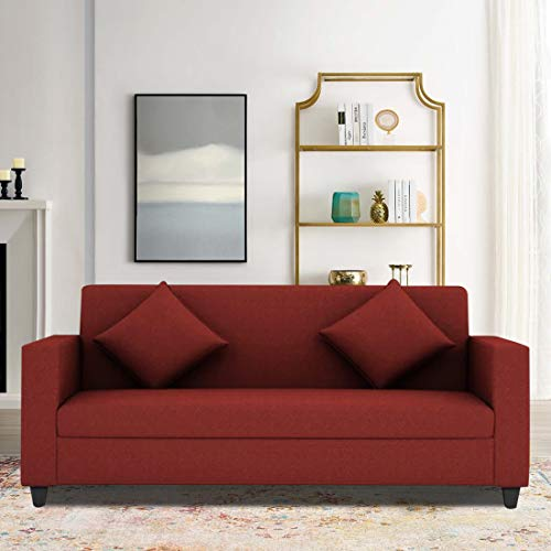 CasaStyle Diana 3 Seater Fabric Sofa  Red