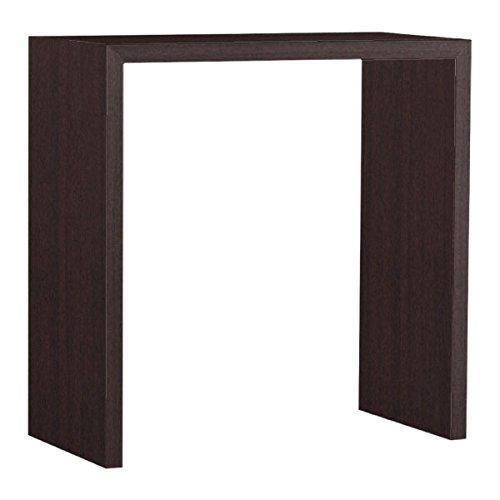 arne カウンターテーブル バーテーブル セミオーダー 日本製 幅85cm 奥行40cm 高さ90cm 棚 ラック シェルフ コンソール 机 木製 Zero-X 8540HH ナチュラル B079KZXYFC 幅85×奥行40,ナチュラル