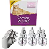 Comfort Zone Calming Diffuser Kits for Cat Calming, 3 Diffusers, 6 Refills