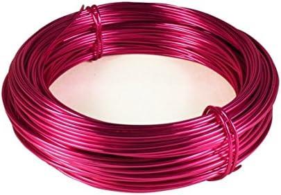 Aluminiumdraht Pink TARA-Dekoration Schmuckdraht rund 60m x 2mm Aludraht