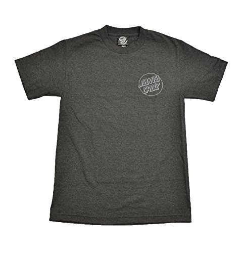 (Santa Cruz Opus Dot Charcoal Heather S/S Regular Men's T-Shirt (Medium))