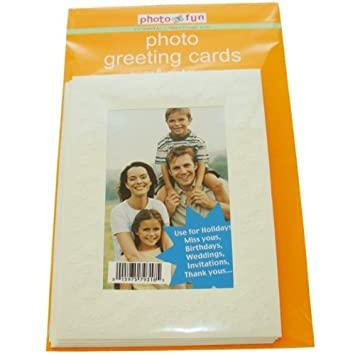 Amazon 6pk photo insert greeting cards embossed custom 4 x 6 6pk photo insert greeting cards embossed custom 4quot m4hsunfo