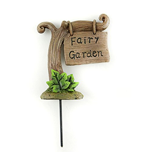 Midwest Designs Fairy Garden Sign On Stick Decoration (Tree Sign)]()